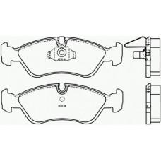 Brzdové doštičky predné BREMBO P59 017
