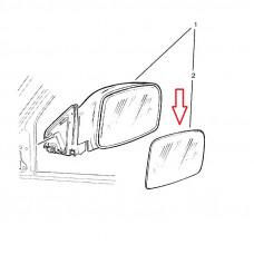 Spätné zrkadlo OPEL Frontera B - Pravé sklo zrkadla s plastovým držiakom, vyhrievané, konvexné