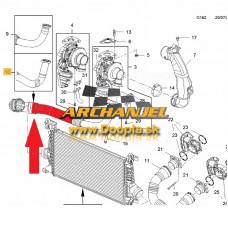 Turbo hadica OPEL Astra J - A17DTR, A17DTJ - turbo - medzichladič - 13327298 - Doopla.sk | Opel Diely | Originál diely Opel | Archanjel Slovakia, s.r.o.