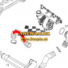 Turbo hadica OPEL Astra H, OPEL Zafira B - 1,9 CDTi - Z19DT, Z19DTL - 55557038 - Doopla.sk | Opel Diely | Originál diely Opel | Archanjel Slovakia, s.r.o.