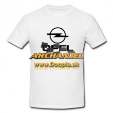 Tričko Opel biele verzia I. - Doopla.sk | Opel Diely | Originál diely Opel | Archanjel Slovakia, s.r.o.