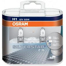 Žiarovka Osram H1 - Silverstar 2.0 12V + 60% - 2ks - 64150SV2-HCB