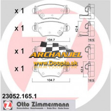 Brzdové doštičky Opel - zadné Zimmermann - 23052.165.1 - Doopla.sk | Opel Diely | Originál diely Opel | Archanjel Slovakia, s.r.o.