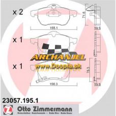 Brzdové doštičky OPEL - predné Zimmermann - 23057.195.1 - Doopla.sk | Opel Diely | Originál diely Opel | Archanjel Slovakia, s.r.o.