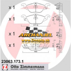 Brzdové doštičky OPEL - predné Zimmermann - 23063.173.1 - Doopla.sk | Opel Diely | Originál diely Opel | Archanjel Slovakia, s.r.o.