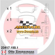 Brzdové doštičky OPEL - zadné Zimmermann - 23417.150.1 - Doopla.sk | Opel Diely | Originál diely Opel | Archanjel Slovakia, s.r.o.