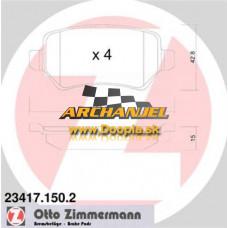 Brzdové doštičky OPEL - zadné Zimmermann -  23417.150.2 - Doopla.sk | Opel Diely | Originál diely Opel | Archanjel Slovakia, s.r.o.