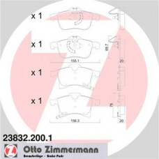 Brzdové doštičky OPEL - predné Zimmermann - 23832.200.1