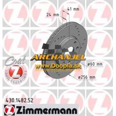 Brzdový kotúč OPEL - predný Zimmermann - 256 mm - 430.1482.52 - Doopla.sk | Opel Diely | Originál diely Opel | Archanjel Slovakia, s.r.o.