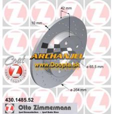 Brzdový kotúč OPEL - zadný Zimmeramnn - 264 mm - 430.1485.52 - Doopla.sk | Opel Diely | Originál diely Opel | Archanjel Slovakia, s.r.o.