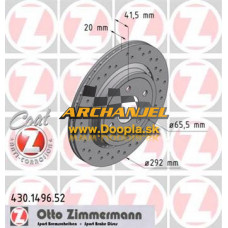Brzdový kotúč zadný Zimmermann - 292 mm - 430.1496.52 - Doopla.sk | Opel Diely | Originál diely Opel | Archanjel Slovakia, s.r.o.