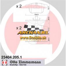 Brzdové doštičky predné Zimmermann - 23404.205.1 - Doopla.sk | Opel Diely | Originál diely Opel | Archanjel Slovakia, s.r.o.