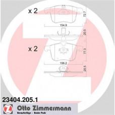 Brzdové doštičky predné Zimmermann - 23404.205.1