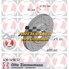 Brzdový kotúč predný Zimmermann - 285 mm - 430.1498.52 - Doopla.sk | Opel Diely | Originál diely Opel | Archanjel Slovakia, s.r.o.
