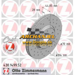 Brzdový kotúč predný Zimmermann - 314 mm - 430.1499.52 - Doopla.sk | Opel Diely | Originál diely Opel | Archanjel Slovakia, s.r.o.